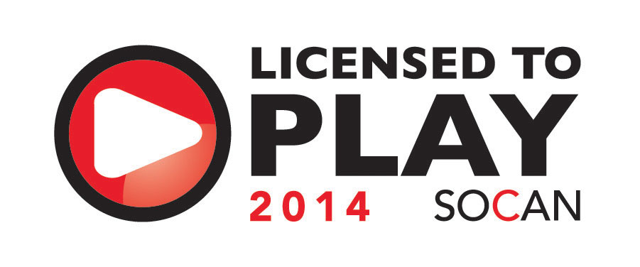 SOCAN Licensed to play 2014